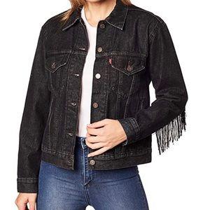 Trucker fringe jacket